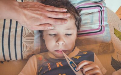 What should I do if my child has a high temperature?